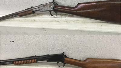 Gun stock refinishing Bluing